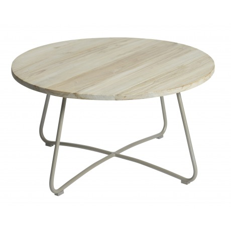 MAX&LUUK Lily koffie tafel ø80,5cm taupe