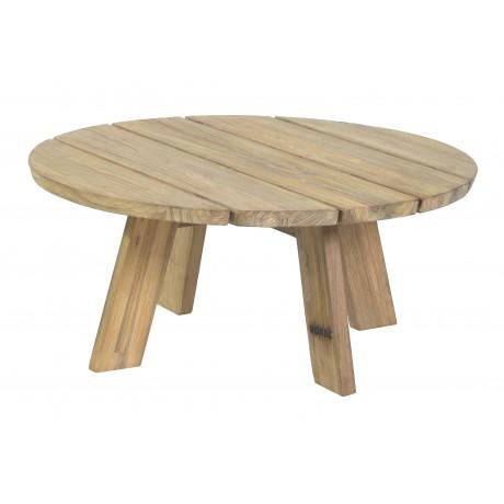 BOREK Tarifa lage tafel reclaimed teak  rond 80cm.