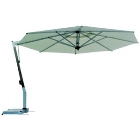 Borek Capri parasol teak-zilver rond en rechthoekig