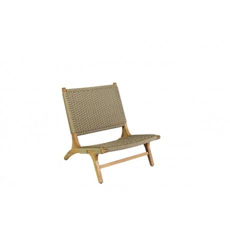 BOREK Verdasio lage fauteuil zonder armleuningen