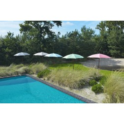 MAX&LUUK Olivia parasol rond 200cm. Wit