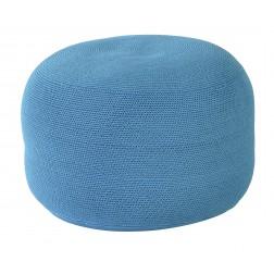 BOREK Crochette ronde poef turquoise