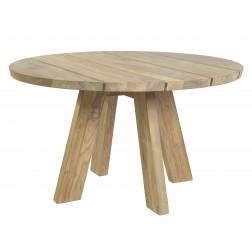 BOREK Tarifa reclaimed teak tafel rond 130cm.