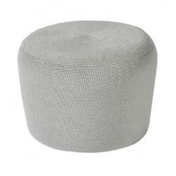 BOREK Crochette ronde poef iron grey