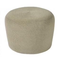 BOREK Crochette ronde poef zand