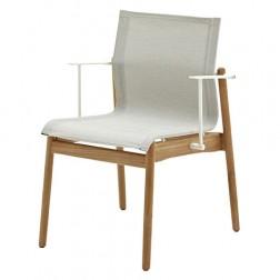 Gloster Sway teak stapelstoel met armleuningen