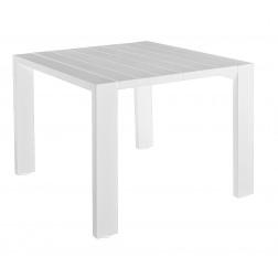 BOREK Samos tafel 100cm. x 100cm. wit