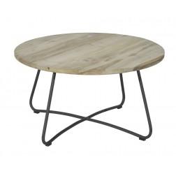 MAX&LUUK Lily koffie tafel ø80,5cm antraciet
