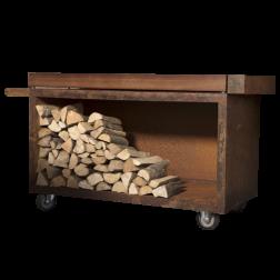 Ofyr Butcher Block PRO Corten staal met hout 135cm.
