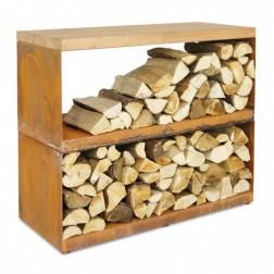 Ofyr wood storage dressoir Corten staal