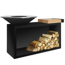 Ofyr classic island barbecue 85 Zwart
