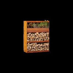 Ofyr wood storage Cabinet Corten staal