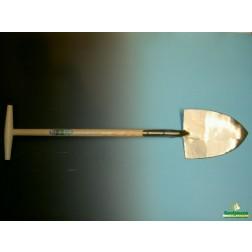 Boskoopse gesmede spade met steel
