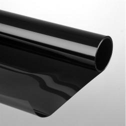 Folie zwart 250 cm breed, 0.07 mm dik