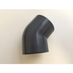 Knie PVC 45°