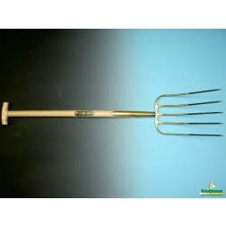 Mestvork 5 tands met T-steel 100 cm
