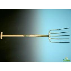 Mestvork 5 tands met T-steel 90 cm