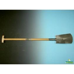 Spade gepolijst met opstap en T-steel 95 cm