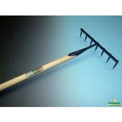 Zaadhark gesmeed 7 tands met 160 cm steel